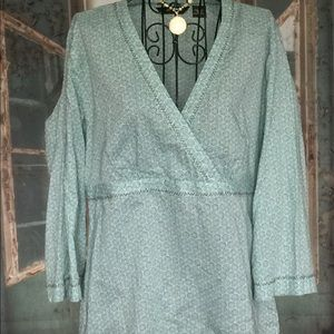EUC Eddie Bauer cotton print tunic
